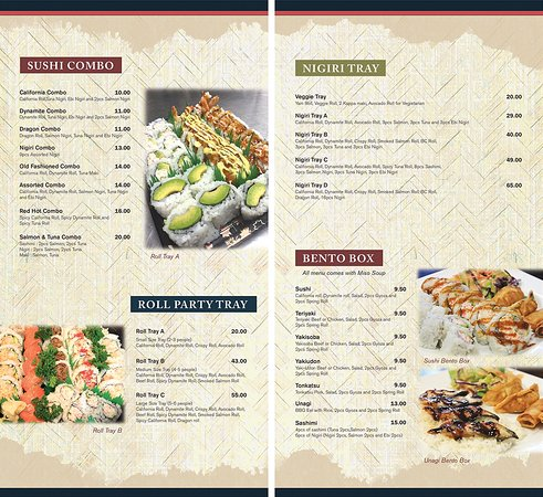 Dawson Creek, Canada: New Menu from 2017.We give complimentary Miso soup and Salad to stay customers :)
