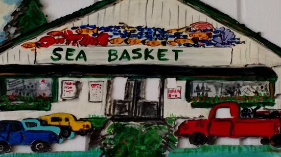 Wiscasset, ME: Sea basket art