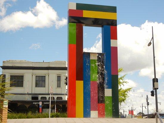 Waikato Museum: Fountain of lego