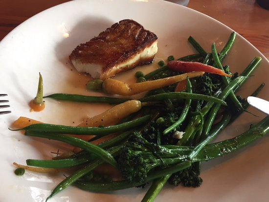 Lafayette, CA: The veggies were only half cooked the halibut by far over fried