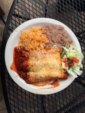 Alpine, TX: Beef enchiladas