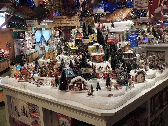 Mini Christmas Village Display.Mini Village Display Picture Of Bronner S Christmas