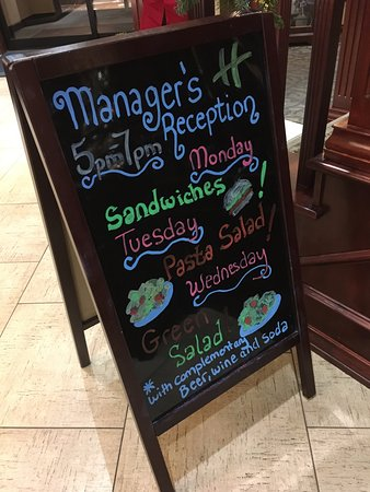Holiday Inn Express Spokane Valley: Managers Reception showing what is coming