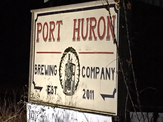 Port Huron Brewing Company: Sign out front