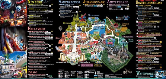 The map for the Universal studio Japan theme park Picture of