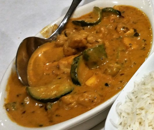Guilderland, NY: Navratan Korma. (9 vegetables, nuts and paneer)
