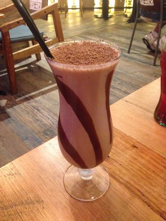 Cardiff, Australia: The Chocolate Milkshake with chocolate dusted on-top