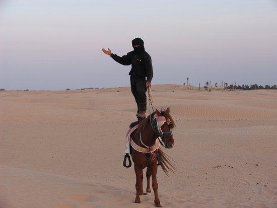 Hotel Sahara Douz: Всадник. На краю Сахары