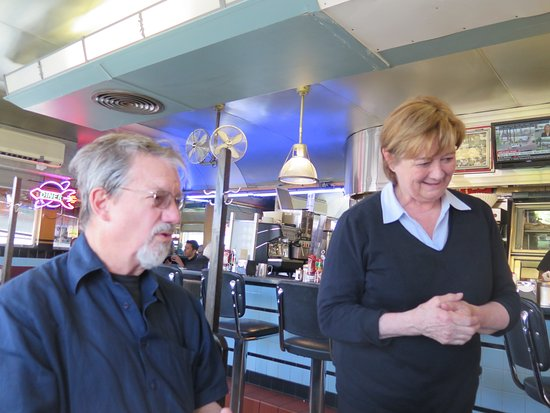 Deluxe Town Diner: our friend with one of the owners