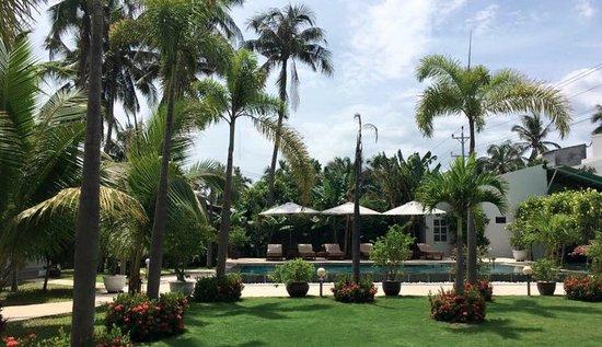 Fleur De Vie Bungalows: garden and swimming pool