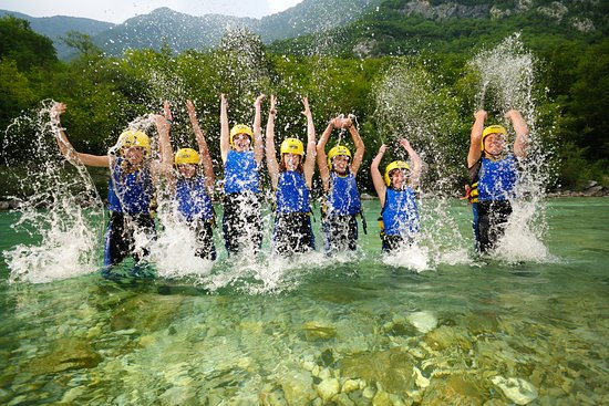 Tolmin, Slovenia: Fun after rafting trip