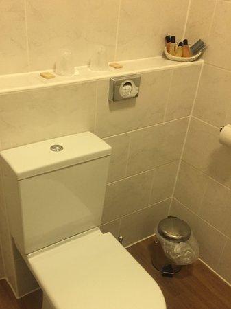 Bay County Hotel: Modern toilet....