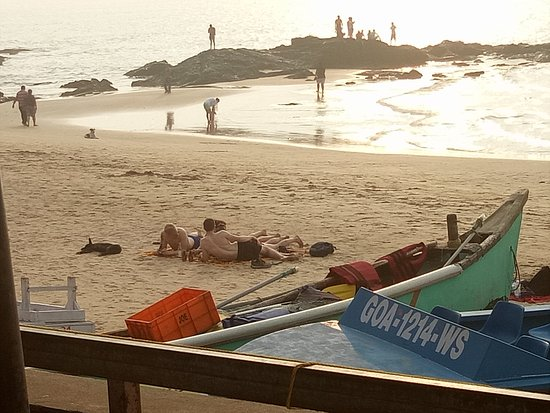 Anjuna, Inde : Beach area