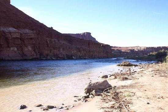 Paria River Canyon: orilla río Colorado