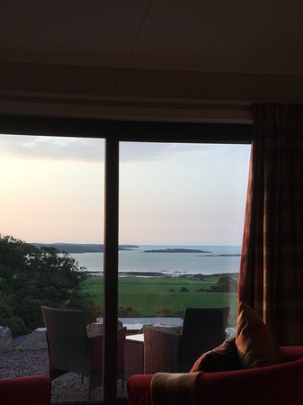 "Gatehouse of Fleet, UK: Morning view at ""The Ben"", Sea View Snugs at Laggan Outdoor."