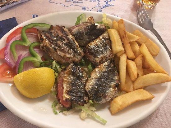 The Volcano Restaurant-Taverna: Les sardines
