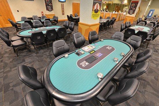Daytona Beach Racing & Card Club: New poker room table tops.