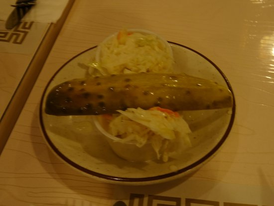 Barnegat, NJ: Great Cole Slaw and a nice dill pickle.