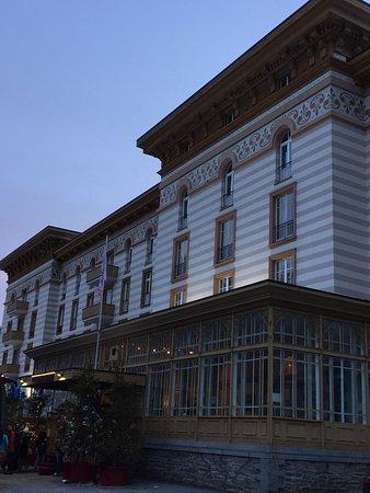 Maloja, Switzerland: Hotel room and its view