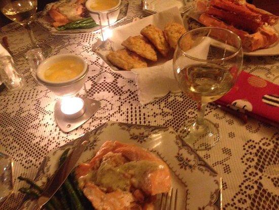 Wild Swan Bed & Breakfast Inn: Bob's Fabulous Feast!