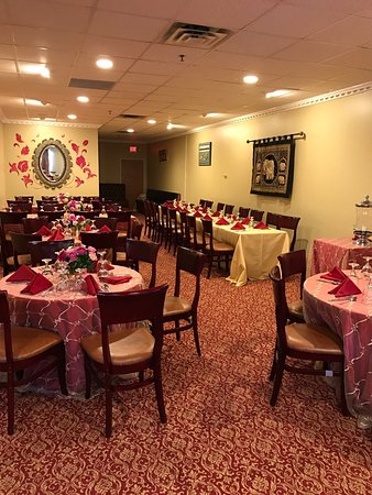 Party Room Decorated For Baby Shower Party And Wedding Reception