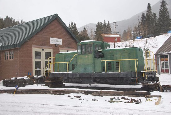 Georgetown, CO: At Silver Plume Station. Just a quick stop (no getting off as closed in winter) and back down