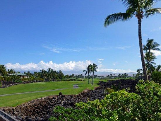 Golf Villas Mauna Lani: Blick von der Terrasse auf den Golfplatz