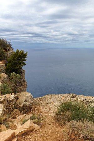 Provence-Alpes-Cote d'Azur, France: Route des Cretes, sea view