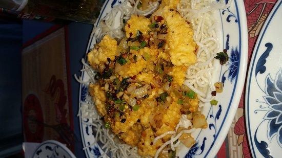 Kwans: Pepper salt squid with a Tsingtao beer!