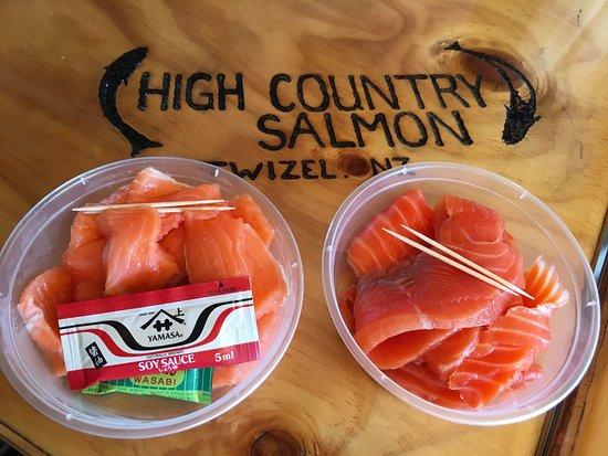 Twizel, Nueva Zelanda: 国宴三文鱼餐厅