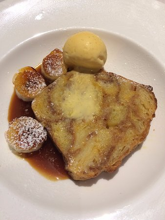 Fried bread pudding - tastier than it sounds!