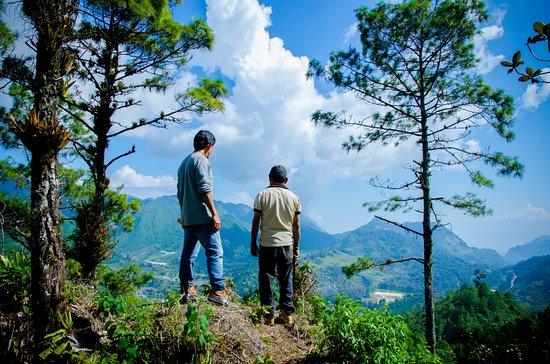 Baja Verapaz Department, Guatemala : Maravilloso mirador al final de nuestro sendero largo