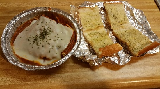 Rockingham, NC: This was my take-home plate from Bella Italy this week. 1/2 the price of Olive Garden, and more