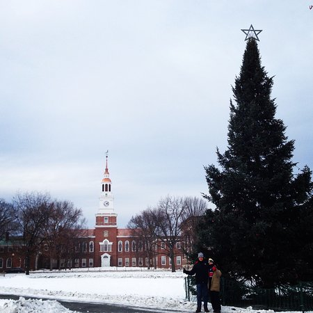 Hanover, Nueva Hampshire: Baker Library & College Green at Christmas