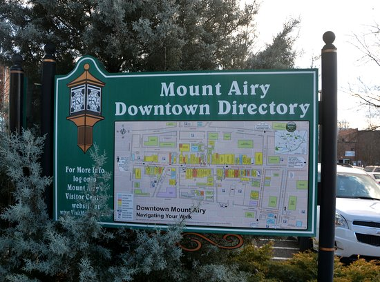 Mount Airy, NC: Orientation Map