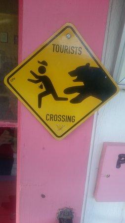 Chugiak, AK: Ótimo aviso quando se está no Alaska!