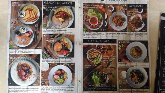 Look at those yummy GF menus :) - Picture of Veganerie ...