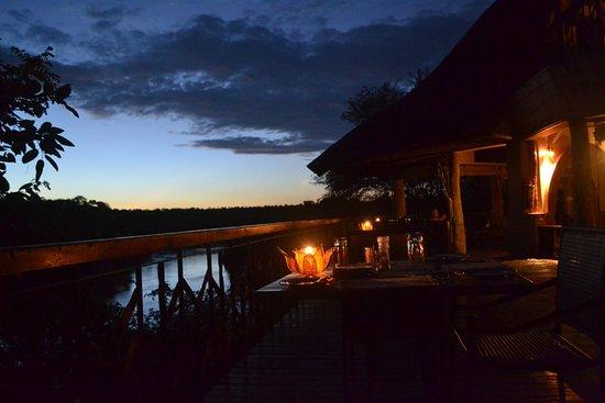 Chiredzi, Zimbabwe: Deck for dinner