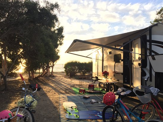 Cardiff-by-the-Sea, Калифорния: Campsite oceanfront