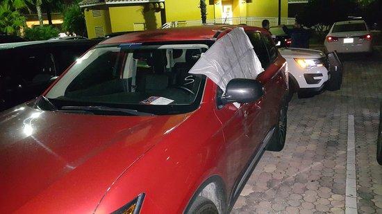 Radisson Hotel Orlando - Lake Buena Vista : 6 cars were smashed and rubbed. No cameras over the entire parking