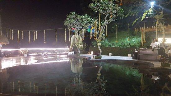 Nandini Bali Jungle Resort & Spa: Ready for a poolparty