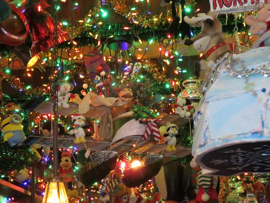 butch mc guires tavern some of the ceiling christmas decorations - Chicago Christmas Decorations