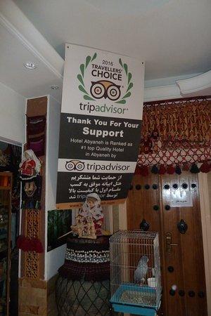 Abyaneh, Иран: Stolzes Schild