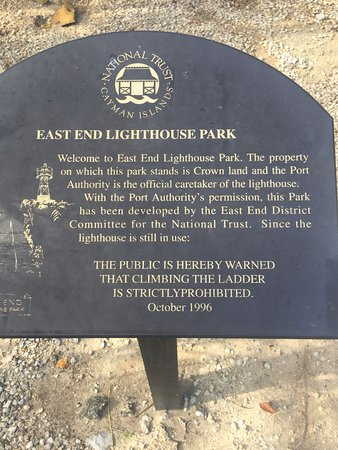 East End Lighthouse Park: Sign at the sight