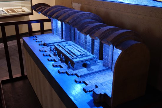 Tomb of Wangjian: The model of the Wangjiang's tomb