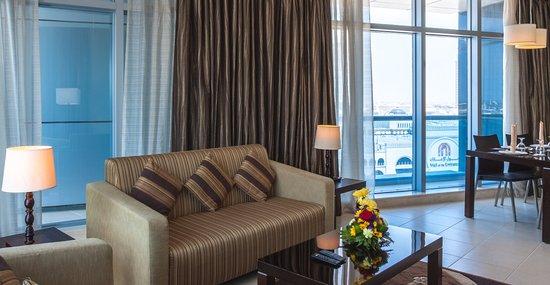 Dunes Hotel Apartments Barsha 02 Br Superior Apartment Living Room