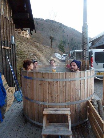 Aillon-le-Jeune, Francja: Le bain suédois : formidable !