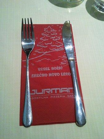 Gostilna in pizzerija Jurman: Jurman napkin