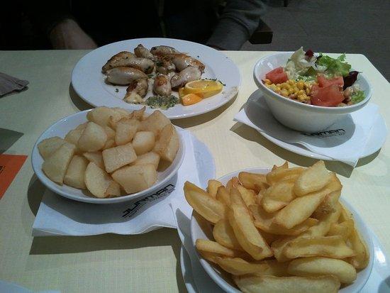 Gostilna in pizzerija Jurman: French fries and cooked potato