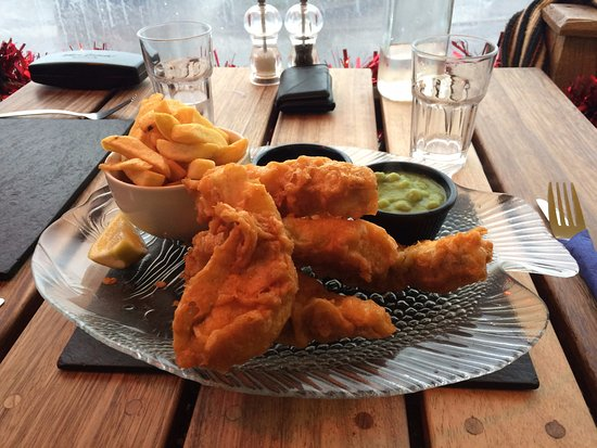 Beesands, UK: Delicious hake goujons